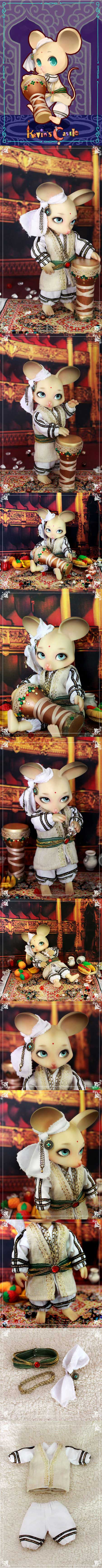 BJD Kevin-drummer 18.5cm Ball-jointed doll
